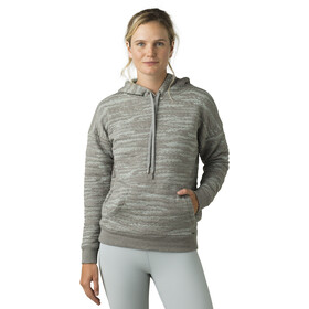 Prana Carin Hoodie Dames, heather grey